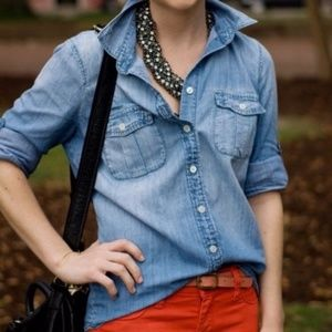 J. Crew Classic Chambray Perfect Fit Shirt
